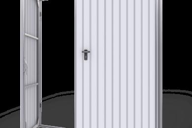 Krídlové garážové brány – Plechové