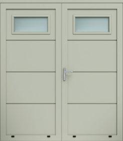 Panelové dvojkrídlové dvere, bez reliéfu, zasklenie A1