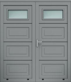 Panelové dvojkrídlové dvere, kazetová mozaika, zasklenie A1