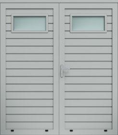 Panelové dvojkrídlové dvere, plytký reliéf, zasklenie A1