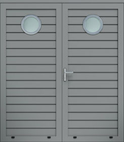 Panelové dvojkrídlové dvere, plytký reliéf, zasklenie O